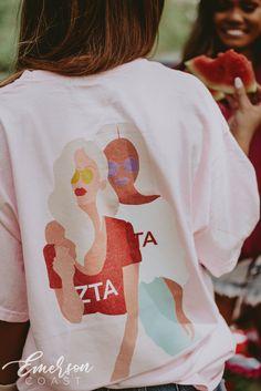 Zeta Tau Alpha Big Little Tshirt Sister Sister Sorority Socials, Sorority Pr, Sorority Shirt Designs, Sorority Outfits, Sorority Rush Shirts, Sorority Canvas, Sorority Paddles, Sorority Crafts, Sorority Recruitment