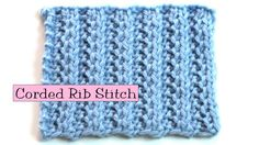 Fancy Stitch Combo - Corded Rib