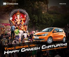 May Lord Ganesha shower you with endless joys and success in all your endeavours. Concorde Motors wishes everyone a Happy Ganesh Chaturthi. #ConcordeMotors #TataMotors #GaneshChaturthi