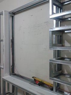 Ormar za tv Tv Unit Design, Tv Wall Design, House Ceiling Design, House Design, Tv Wall Shelves, Sitting Room Decor, Ceiling Materials, Plafond Design, Plasterboard
