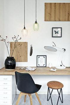 werkplek-lampen-stoel-hout