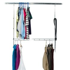 Wardrobe doubler gives twice the hanging space  @Morgan Todd