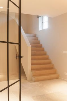 Pietra dei Medici - natural stone - Residential home by ABC projects House Staircase, Staircase Railings, Wooden Staircases, Wooden Stairs, Interior Architecture, Interior And Exterior, Steel Doors And Windows, Caribbean Homes, Love Your Home