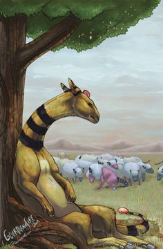 Artist Mareep, Flaaffy, and Ampharos on a farm by request.Artist Mareep, Flaaffy, and Ampharos on a farm by request. Pikachu, Pokemon Fan Art, Cute Pokemon, Pokemon Stuff, Pokemon Images, Pokemon Pictures, Fantasy Concept Art, Fantasy Art, Pokemon In Real Life