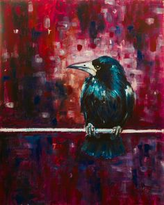 ARTFINDER: Crow by Kovács Anna Brigitta - Original acrilyc painting on canvas board. I love landscapes, still life, nature and wildlife, lights and shadows, colorful sight. These things inspired me a...
