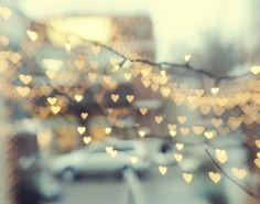 hearts in bokeh