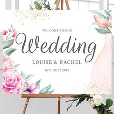 Wedding Welcome Sign Wedding Welcome Signs, Wedding Signs, Best Day Ever, Friends Forever, Pink Roses, Big Day, Place Card Holders, Tapestry, Instagram