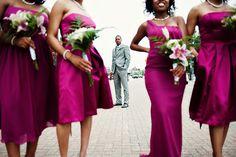 Bridesmaids and groom photo