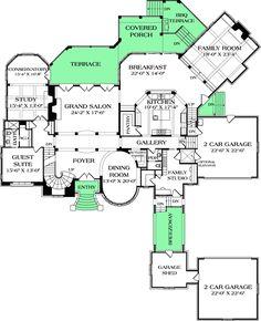 Sunken Family Room - 17724LV floor plan - Main Level