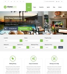 This real estate WordPress theme includes a responsive layout, unlimited color variations, advanced property search, unbranded theme options, 13 custom widgets, support for language localization, sticky post support, 16 custom page templates, and more.