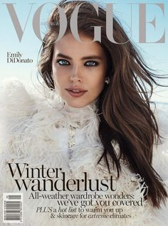 Emily DiDonato is an Ice Queen on Vogue Australia's June Cover - Magazin Emily Didonato, Vogue Magazine Covers, Vogue Covers, Vogue Australia, Fashion Weeks, Top Models, Covergirl Makeup, Maybelline Makeup, Modelo Emily