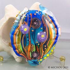 enamal glass lampwork | Pinned by Carol Simmons