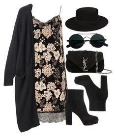 """Style #11314"" by vany-alvarado ❤ liked on Polyvore featuring River Island, Monki, Gianvito Rossi and Yves Saint Laurent #edgy_hipster_style"