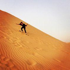 Sand Boarding in a Desert Trip, Libya