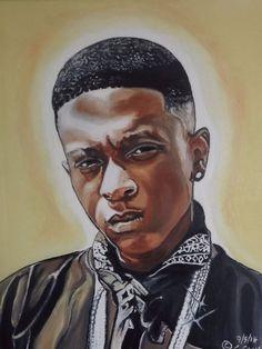 Original Lil Boosie painting from Bonafide Artist LLC. #ArtDeco