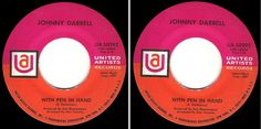 "Johnny Darrell / With Pen In Hand (1968) / United Artists UA-50292 (Single, 7"") #1960s"