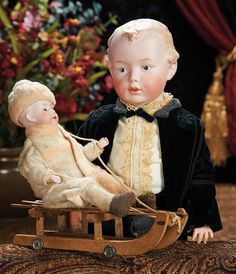 The Lifelong Collection of Berta Leon Hackney: 174 Very Handsome German Bisque Character Boy by Gebruder Heubach