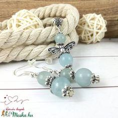Akvamarin ásvány angyal nyaklánc fülbevaló szett (Arindaekszerek) - Meska.hu Beaded Bracelets, Jewelry, Fashion, Jewlery, Moda, Jewels, La Mode, Jewerly, Fasion