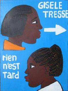 African barber shop sign - Ref : GISELE