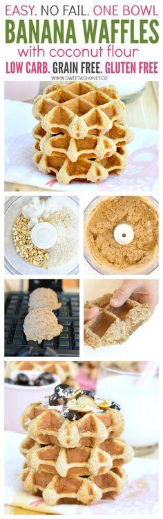 grain free banana waffles with coconut flour