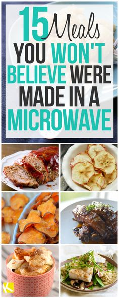 15 Easy Meals You Can Make in the Microwave It's crunch time. The family's hungry and everyone has places to go. Here are some quick and delicious meals you can make in the microwave in just minutes. Save time and eat well. Healthy Microwave Meals, Easy Microwave Recipes, Microwave Dinners, Quick Healthy Meals, Healthy Recipes, Delicious Meals, Healthy Breakfasts, Sweet Potato In Microwave, Microwave Cooking For One