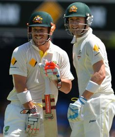 Michael Clarke and David Warner - Centurions in the Test