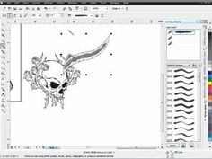 CorelDRAW's brush design options can help bring your artwork to life and blow your customers away with fresh, new ways of composing your vectors. Corel Draw Design, Corel Draw Tutorial, Graphic Design Posters, Coreldraw, Being Used, Machine Embroidery, Cool Things To Buy, Digital Art, Web Design