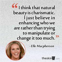 49-year-old Elle Macpherson's beauty philosophy