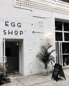 Landscaping Software - Offering Early View of Completed Project Egg Shop, Brooklyn Photo: Melissa Male Coffee Shop Design, Cafe Design, Store Design, Hotel Restaurant, Restaurant Design, Commercial Interiors, Commercial Design, Cafe Interior, Interior And Exterior