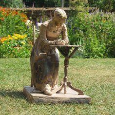 Truscott sculpture in the garden at Chawton