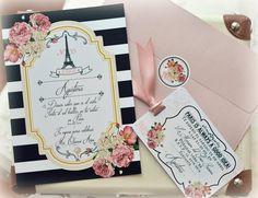 Paris Invitations, Elegant Invitations, Invitation Design, Invitation Cards, Birthday Invitations, Wedding Invitations, Paris Party, Paris Theme, Paris Sweet 16