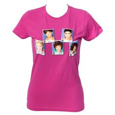 One Direction - One Direction Polaroid Pink T-Shirt