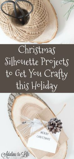 Christmas Silhouette Projects to Get Crafty this holiday Easy Diy Crafts, Diy Craft Projects, Projects To Try, Silhouette Mint, Silhouette Files, Silhouette Cameo, Silhouette Curio Projects, Christmas Holidays, Christmas Ideas