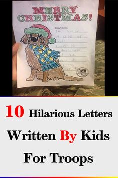 10 Hilarious Letters Written By Kids For Troops Wtf Funny, Funny Jokes, Hilarious, Letter Of Encouragement, Good Luck Wishes, Exam Papers, Thank You Letter, Bill Cosby, Drawing Skills