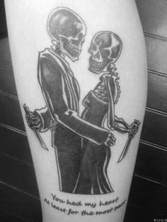 A7X tattoo!! EPIC! 'You had my heart, at least for the most part.' from the song: 'A little piece of heaven.'!