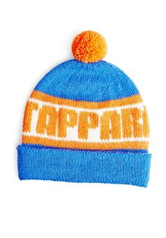 Tappara-fanipipo, neulo pipo suosikkijoukkueesi väreissä ja joukkueen nimellä, ohje: SK 9/14. Knitted Hats, Beanie, Knitting, Fashion, Knit Hats, Moda, Tricot, Fashion Styles, Knit Caps