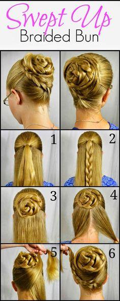 Swept Up Rose Braid Bun Hairstyle Tutorial ~ Calgary, Edmonton, Toronto, Red Deer, Lethbridge, Canada Directory