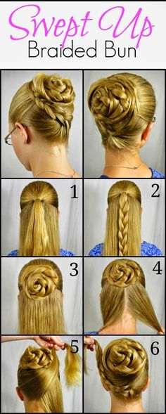 Swept Up Rose Braid Bun Hairstyle Tutorial ~ Calgary, Edmonton, Toronto, Red Deer, Lethbridge, Canada Directory