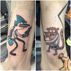 Mordecai and Rigby may the 4th tattoos done today ! Thankyou so much ❤️ still got spaces this week for some geeky… by bootattoo89 - instaview.me