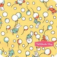 Toy Chest Yellow Bunnies & Balloons Yardage SKU# C4852-YELLOW
