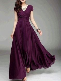 In love with this Bargande coloured gown.