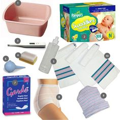 Ten Products to Swipe from the Hospital After Having a Baby.