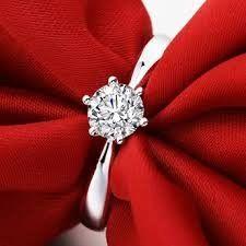 2 Pcs Crystal Simulated Diamond Jewelry Wedding Band Engagement Ring Men Women
