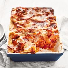 Butternut and tomato lasagne