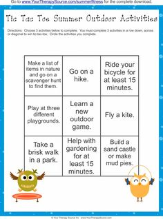 Summer Fitness Challenge Freebie - Get kids moving this summer!