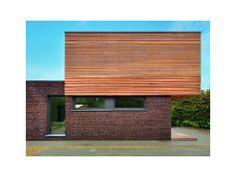 Briques cube maison moderne fa ade pinterest - Bardage moderne ...