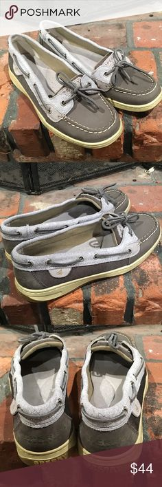 Sperry Top Sider Loafers size 8 1/2 Sperry Top Sider Loafers size 8 1/2.  Grey and silver loafers in excellent condition.  No visible wear. Super comfortable. Sperry Top-Sider Shoes Flats & Loafers