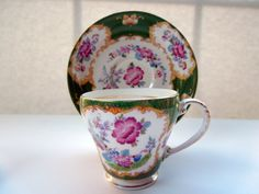Vintage England Demitasse Cup Saucer Royal by ColorfullGifts