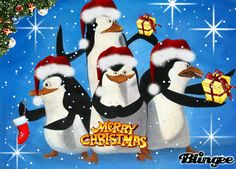 Madagascar Penguins Christmas GIF