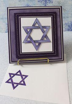 Hanukkah Star of David- Handmade Greeting Card Hanukkah Cards, Christmas Hanukkah, Hannukah, Handmade Greetings, Greeting Cards Handmade, Paper Cards, Diy Cards, Holiday Cards, Christmas Cards
